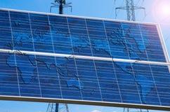 Un monde actionné solaire Photos libres de droits
