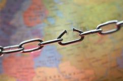 Un monde dans la crise Photo libre de droits