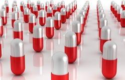 Un mondo delle pillole fotografie stock