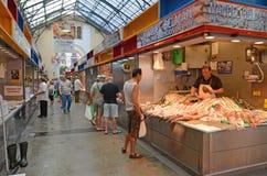 Un Monger di pesce Malaga Spagna Tom Wurl Immagini Stock Libere da Diritti