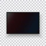 Un monitor realista de la TV en un fondo transparente fotografía de archivo libre de regalías