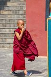 Un monje budista joven foto de archivo