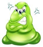 Un monstre vert très fâché Photos libres de droits
