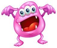 Un monstruo de la gorrita tejida en horror Foto de archivo libre de regalías