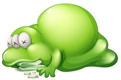 Un monstruo muerto del greenslime Foto de archivo libre de regalías