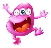Un monstruo muy emocionado de la gorrita tejida Imagen de archivo