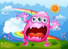 Un monstruo que grita en la cumbre Foto de archivo libre de regalías