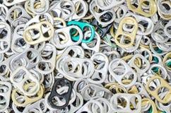 Un montón de anillo-tirones Fotos de archivo libres de regalías