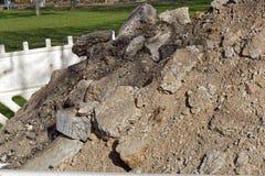 Un montón de la arena y de piedras Fotos de archivo