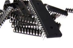 Un montón de microprocesadores Imagen de archivo