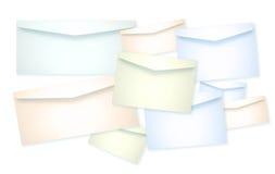 Un montón de papel de sobre Imagen de archivo