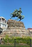 Un monument à Bohdan Khmelnitskiy Images stock