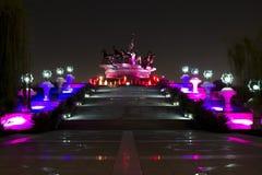 Un monument à l'Akhal-Teke Image libre de droits