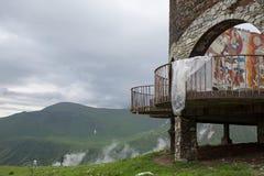 Un monument d'amitié de la Russie la Géorgie de l'ère soviétique dans Guda Images stock