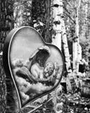 un monumento ad un angelo di sonno fotografia stock libera da diritti
