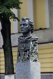 Un monumento al director de cine Emil Loteanu Imagen de archivo libre de regalías