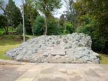 Un monumento dedicted a la legión británica que ayudó al ejército del ` s de Simin Bolivar a ganar la independencia para Colombia Imágenes de archivo libres de regalías