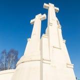 Un monumento di tre incroci a Vilnius immagini stock libere da diritti