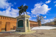 Un monumento a Dmitry Donskoy, la ciudad de Kolomna, Rusia Imagen de archivo