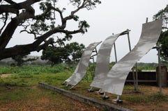 Un monumento en la orilla del Océano Índico murió del tsunami devastador en diciembre de 2004 Fotografía de archivo