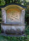 Un monumento en una pista de senderismo cerca del monasterio de Kreuzberg en Alemania foto de archivo libre de regalías