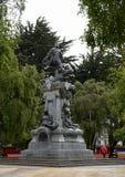 Un monumento a Fernando Magellan nelle arene di Punta fotografia stock