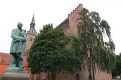 Un monumento a Hans Christian Andersen en Copenhague, Dinamarca Foto de archivo libre de regalías