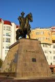 Un monumento a Kenesary Khan a Astana fotografia stock