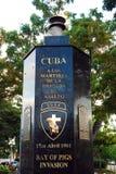 Un monumento para honrar a los hombres valientes de la bahía de cerdos Fotografía de archivo