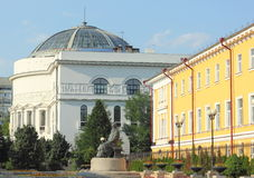 Un monumento storico nella città Immagine Stock Libera da Diritti