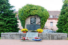 Un monumnet de Lallsacienne de ` comme mémoire Franco Camion la 1ère guerre mondiale Images stock