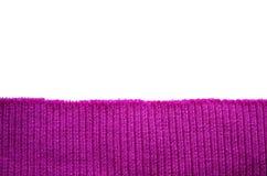 Un morceau de bandes tricotées tricotées D'isolement sur le blanc Image stock