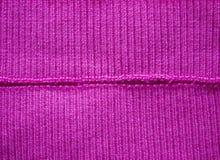 Un morceau de bandes tricotées tricotées D'isolement sur le blanc Photos libres de droits