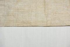 Un morceau de blanc a amorcé la toile et non-a amorcé la toile photos libres de droits