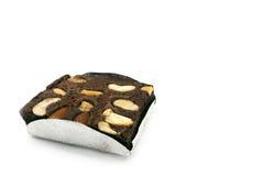 Un morceau de 'brownie' Images libres de droits