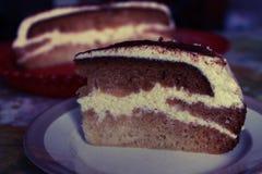 Un morceau de gâteau délicieux Photo libre de droits