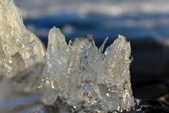 Un morceau de glace dans le macro Photographie stock