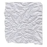 Un morceau de papier déchiré sur le fond blanc Photographie stock libre de droits