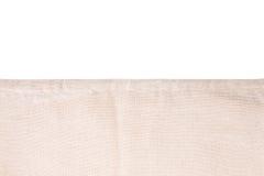 Un morceau de tissu beige Photo libre de droits