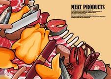 Un morceau de viande fraîche se trouvant sur une table Image libre de droits