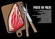 Un morceau de viande fraîche se trouvant sur une table Photo stock
