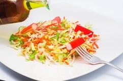 Un morso di insalata 2 Fotografia Stock Libera da Diritti