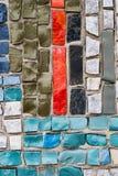 Un mosaico dei pezzi colorati di pietre in cemento, Fotografie Stock Libere da Diritti