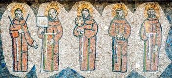 Un mosaico del monaco cinque Immagini Stock Libere da Diritti