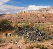Un mosaico del ranch del fantasma - Abiqui, New Mexico Fotografia Stock Libera da Diritti