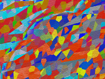 Un mosaico está en un caleidoscopio Fotografía de archivo
