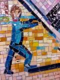 Un mosaico urbano di un uomo Fotografia Stock