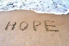 Un mot d'espoir image stock