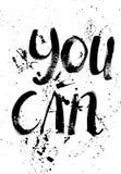 Un mot positif, appels pour l'action Expression pour la motivation, pour une affiche, pour une impression, T-shirts lettrage illustration de vecteur