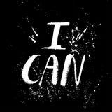 Un mot positif, appels pour l'action Expression pour la motivation, pour une affiche, pour une impression, T-shirts lettrage illustration libre de droits